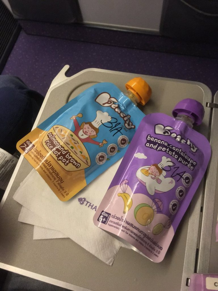thai inflight baby meal