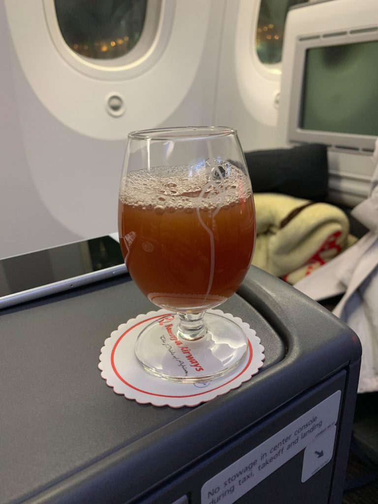 kenya airways inflight meal