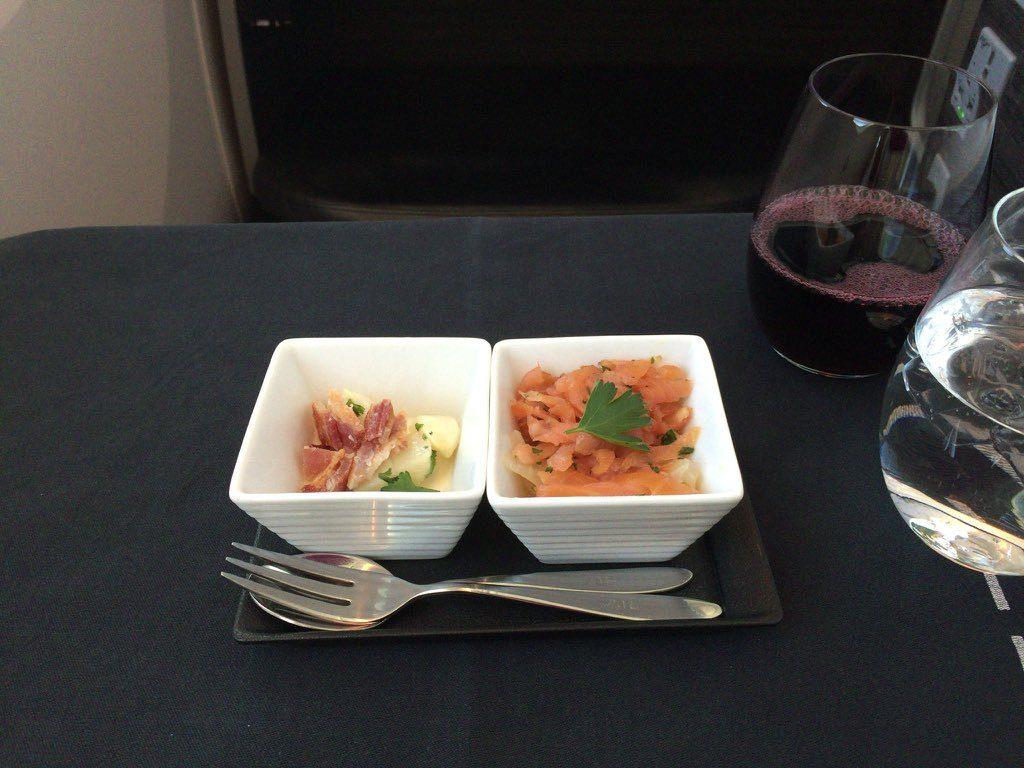 JAL機内食 ロンドン羽田