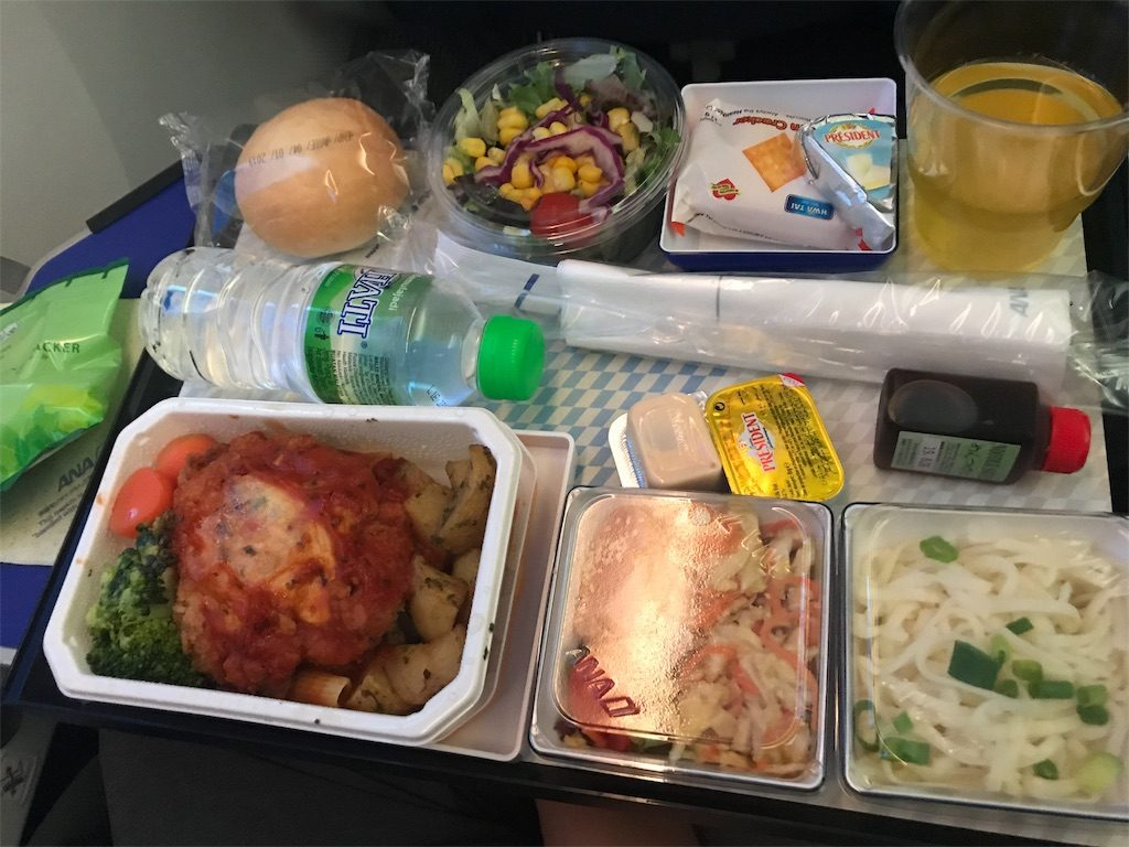 ANA inflight meal western