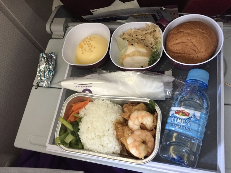 機内食 inflight meal thai airways