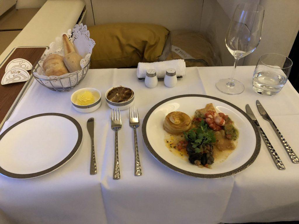 タイ航空ファースト機内食 thai inflight meal