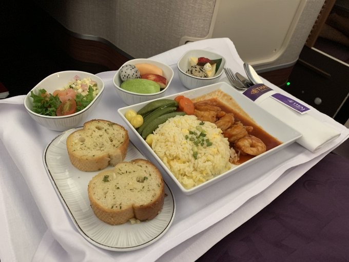 thai inflight meal
